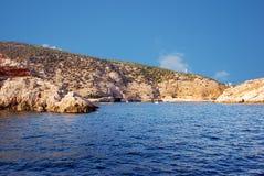 Ingång till den Balaklava fjärden från Blacket Sea Royaltyfri Bild
