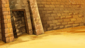 Ingång till den egyptiska pyramiden Royaltyfri Fotografi