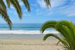 Ingång till den huvudsakliga stranden, Laguna Beach Arkivbilder