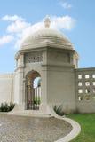 Ingång till den indiska minnesmärken för armé WW1 på Neuve-Chapelle, Frankrike Arkivbilder