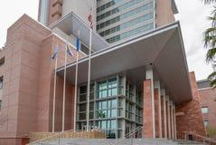 Ingång till den Las Vegas rättvisan Center Arkivbilder