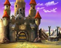 Ingång till den magiska slotten Royaltyfri Bild