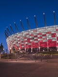 Ingång till den nationella stadionen, Warsaw, Polen Royaltyfri Bild