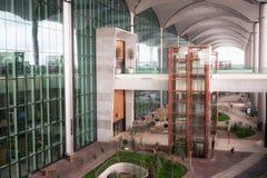 Ingång till den nya internationella Istanbul flygplatsen, sidosikt fotografering för bildbyråer