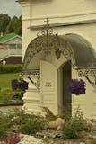 Ingång till den ortodoxa kyrkan royaltyfri bild