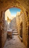 Ingång till den Paphos nekropolen Royaltyfria Bilder