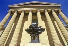 Ingång till den Philadelphia konstmuseet, Philadelphia, PA royaltyfria foton