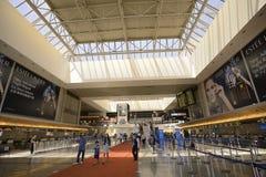 Ingång till den SLAPPA flygplatsen Arkivbild