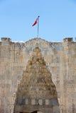 Ingång till den Sultanhani caravansaryen på den siden- vägen Royaltyfria Foton