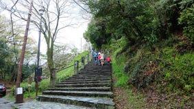 Ingång till den Wakayama slotten royaltyfria bilder