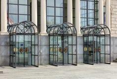 Ingång till den Zurich operahuset i Zurich, Schweiz Royaltyfri Fotografi