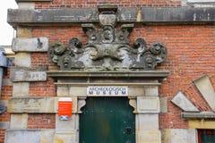 Ingång till det Archeologisch museet Haarlem Royaltyfri Fotografi