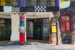 Ingång till det Hundertwasser museet, Wien Royaltyfri Fotografi