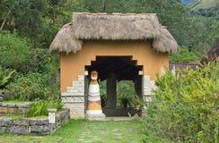 Ingång till det Leimebamba museet, Peru Royaltyfria Bilder