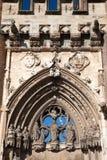 Ingång till domkyrkan i Albi, närbild royaltyfria foton