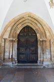 Ingång till domkyrkaSen, Portugal Royaltyfri Bild
