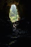 Ingång till en grotta Arkivfoton