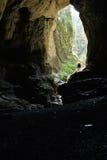 Ingång till en grotta Arkivbilder