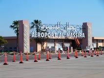 Ingång till flygplatsen i den AGADIR staden i MAROCKO Fotografering för Bildbyråer