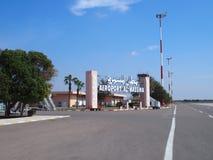 Ingång till flygplatsen i den AGADIR staden i MAROCKO Arkivbilder