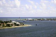 Ingång till Fort Lauderdale, Florida hamn Royaltyfri Fotografi