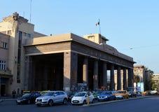 Ingång till Gara de Nord, huvudsaklig station i Bucharest, Rumänien Arkivfoton