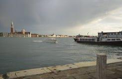 Ingång till Grand Canal Venedig Royaltyfri Fotografi