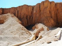 Ingång till gravvalvet i dalen av konungarna, Egypten royaltyfri bild