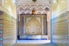 Ingång till helheten som är artisanal i Marrakech morocco Royaltyfria Foton
