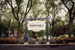 Ingång till Hersheypark i Hersey, PA arkivbilder
