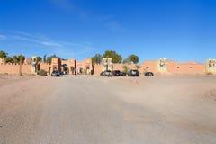 Ingång till Kartbok Korporation studior Ouarzazate Arkivfoton