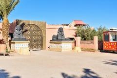 Ingång till Kartbok Korporation studior Ouarzazate Royaltyfri Fotografi