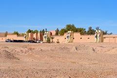 Ingång till Kartbok Korporation studior Ouarzazate Royaltyfria Bilder