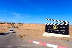 Ingång till Kartbok Korporation studior Ouarzazate Royaltyfria Foton