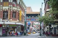 Ingång till kineskvarteret Melbourne, Australien Arkivbild