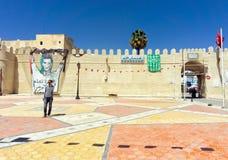 Ingång till Medinaen av Kairouan, Tunisien arkivbild