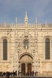 Ingång till Monasteiro DOS Jeronimos. Lissabon. Portugal arkivbilder