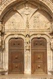 Ingång till Monasteiro DOS Jeronimos. Lissabon. Portugal royaltyfria bilder