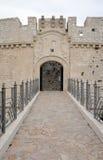 Ingång till Monte Sant ' Angelo Castle Royaltyfria Bilder