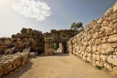 Ingång till Mycenae, Grekland royaltyfri foto