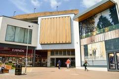 Ingång till prinsessan Square och f-hindar, Bracknell, UK Arkivbild