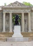 Ingång till Rodin Museum i Philadelphia, Pennsylvania, USA Royaltyfria Bilder