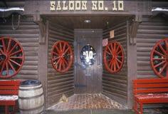 Ingång till salongen i Deadwood, SD Fotografering för Bildbyråer