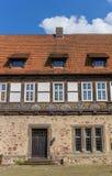 Ingång till slotten i Blomberg Arkivfoton