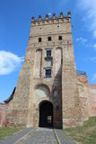 Ingång till slotten i Lutsk royaltyfri fotografi