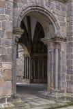 Ingång till St Procopius Basilica i Trebitsch, Tjeckien fotografering för bildbyråer