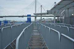 Ingång till stadion bak bron Royaltyfria Foton