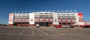Ingång till Stoke City fotbollsarena arkivfoto