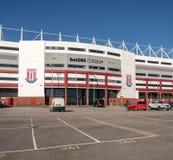 Ingång till Stoke City fotbollsarena royaltyfria bilder