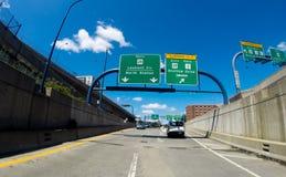 Ingång till Storrow drev, från norr rutt 93, Boston, MOR Royaltyfria Foton
